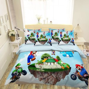 Super Mario bedding set picture