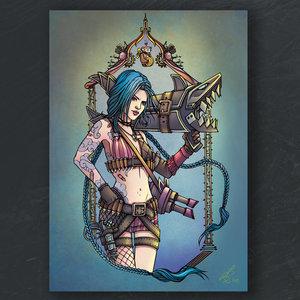 A5 print - Jinx - League of Legends picture