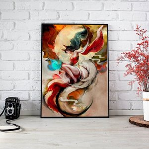 Ahri Paiting - Poster Print picture