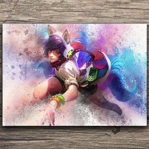 Ahri watercolor poster picture