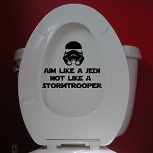 Aim Like a Jedi not like a Stormtrooper decal sticker picture