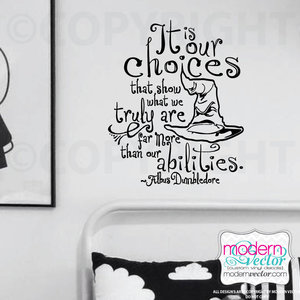 Albus Dumbledore quote vinyl wall decal picture