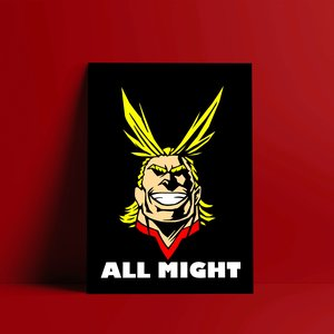 All Might wall print picture