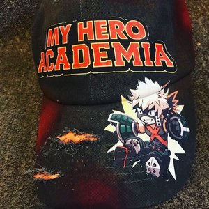 Bakugo exploded dad hat picture