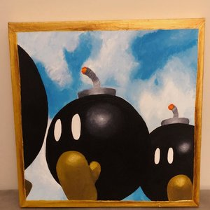 Bomb-Omb Super Mario 64 Painting picture