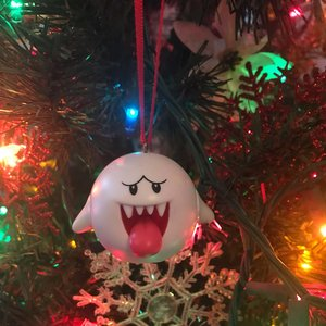 Boo Ghost Holiday Christmas Ornament picture