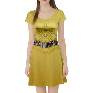 C3PO short sleeve skater dress picture