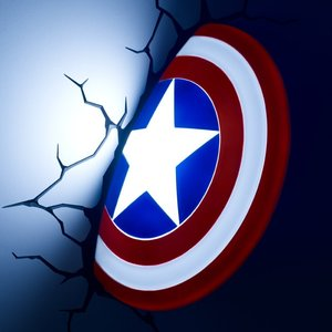 Captain America's shield 3D Decoration Light picture
