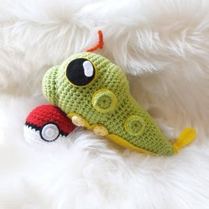Caterpie amigurumi picture