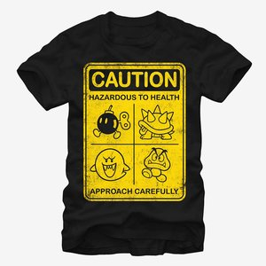 Caution with Mario enemies T-Shirt picture