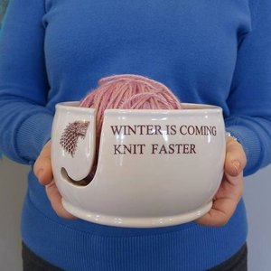 Winter is coming ceramic yarn bowl picture
