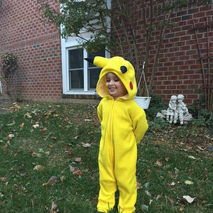 Child's Pikachu inspired costume picture