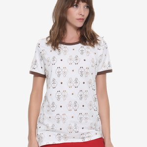 Chip N Dale Allover Print Womens Ringer Tee picture
