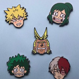Crying Heroes hard enamel pins picture