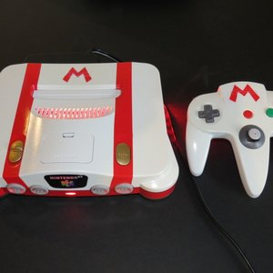 Custom Nintendo 64 - Fire Mario console picture