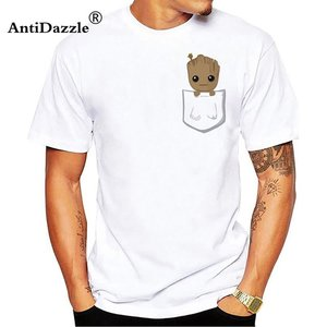 Cute groot in a pocket t-shirt picture
