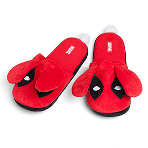 Deadpool Fuzzy Bunny Slippers picture