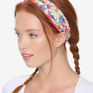 Disney Lilo & Stitch Floral Head Wrap Style Headband picture
