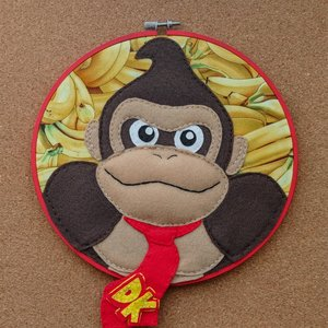 Donkey Kong - Felt Embroidery Hoop picture