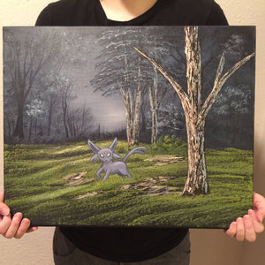 Espeon Woods - Pokemon painting picture