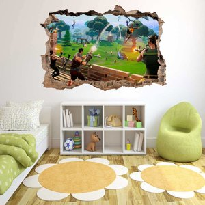 Fortnite 3D Smashed Wall Sticker picture