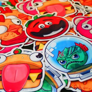 Fortnite Mascot Waterproof Sticker Set picture