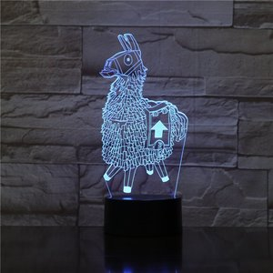 Fortnite Supply Llama - 3D Optical Illusion Lamp picture