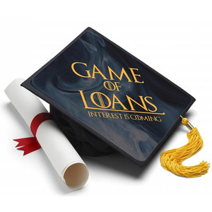 Game of Loans Decorated Grad Cap picture