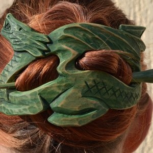 Mother of Dragons hair barrette picture