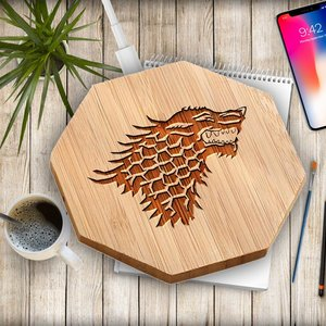 Game of Thrones Wireless Charger Qi Dragon Bamboo picture