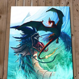 Gyarados Vs Charizard Print picture