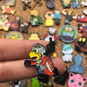 Hammer Bro X Wing Pilot enamel pin picture
