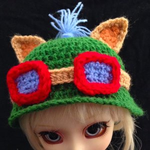 Handmade Teemo's hat knitted in crochet picture