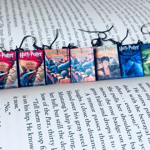 Harry Potter book earrings picture