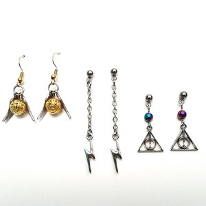 Harry Potter themed earring sets picture