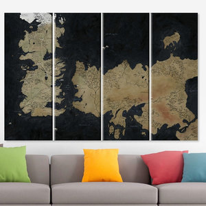 Huge Game Of Thrones Map Wall Art picture