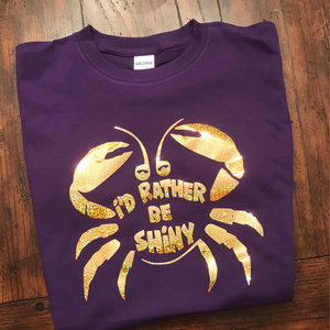 I'd Rather Be Shiny Tamatoa Crab shirt picture