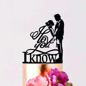 I love you, I know cake topper picture