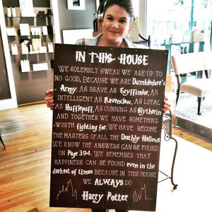 """In This House"" Harry Potter Wooden Sign picture"