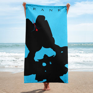 Just existing can't be a crime - Franky beach towel picture