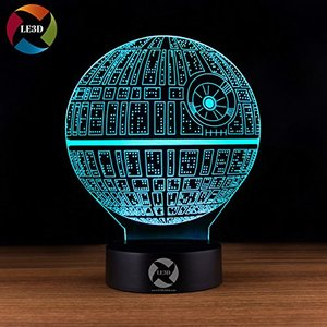 Death Star Themed 3D Illusion LED Night Light picture