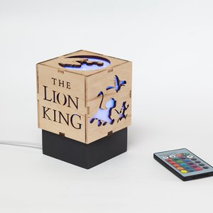 Lion king wood lamp picture