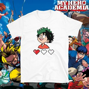 Little Deku pixel heart t-shirt picture