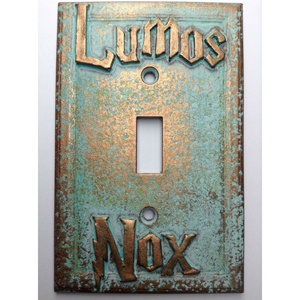 Lumos/ Nox Harry Potter light switch cover picture