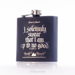 Marauder's Map - Engraved Hip Flask picture