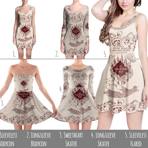 Marauder's Map Harry Potter Inspired Dress picture