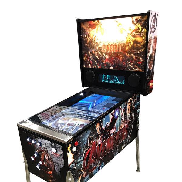 Marvel Avengers full size virtual pinball machine | Geek Beholder