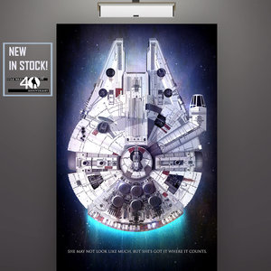 Millennium Falcon 40th Anniversary - Star Wars Print picture