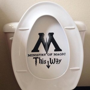 Ministry of Magic Toilet Decal Sticker picture