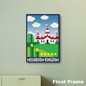 Mushroom Kingdom Travel Print wall art picture